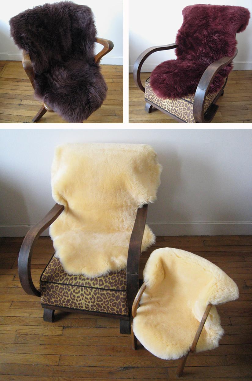 peaux lainées entières merinos