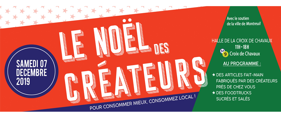 For the first time, Wubby will be present at the Noël des Créateurs in Montreuil - Halle Croix de Chavaux